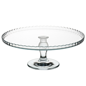 Utopia Patisserie Upturn Glass Cake Stand 12.5inch / 32cm