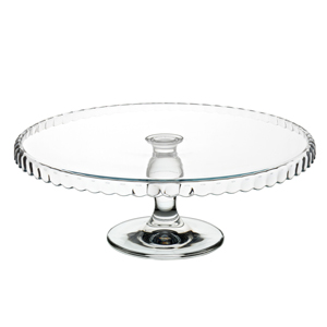 Utopia Patisserie Downturn Glass Cake Stand 12.5inch / 32cm