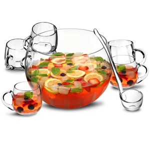 8 Piece Punch Bowl Set