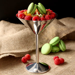 Stainless Steel Martini Glasses 8.8oz / 250ml