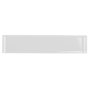 Churchill Alchemy Melamine Rectangle Buffet Tray White 18inch / 46cm