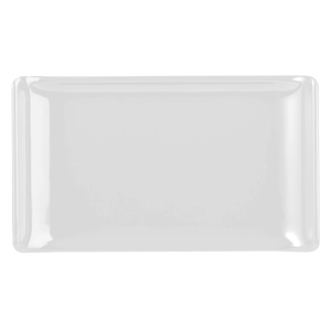 Churchill Alchemy Melamine Rectangle Buffet Tray White 6.7inch / 17.2cm