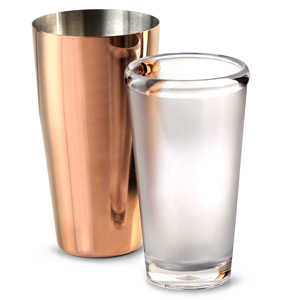 Urban Bar Rose Gold Plated Boston Cocktail Shaker