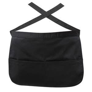 Money Pocket Waist Apron Black