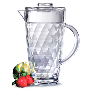 Diamond Cut Acrylic Pitcher with Lid 70oz / 2ltr