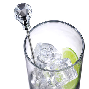 Diamond Head Stainless Steel Swizzle Sticks