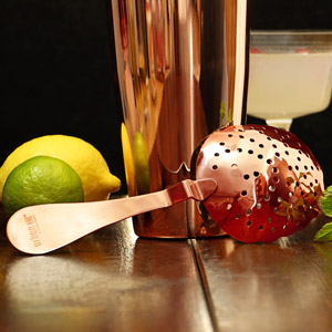 Urban Bar Rose Gold Plated Biloxi Julep Strainer