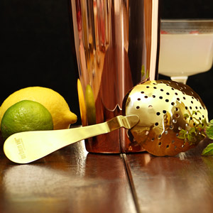 Urban Bar Gold Plated Biloxi Julep Strainer