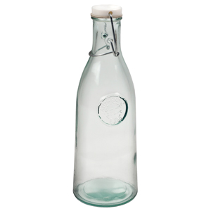Authentic Recycled Glass Clip Top Bottle 1ltr