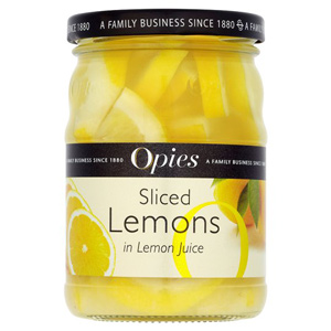 Opies Sliced Lemons in Lemon Juice 350g