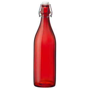Giara Swing Top Bottle Red 1ltr