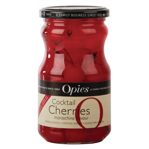 Opies Red Marachino Cocktail Cherries with Stem 225g
