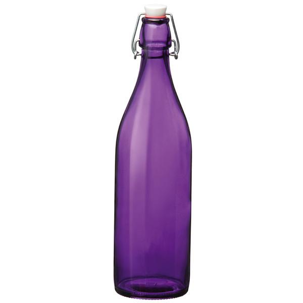 Giara swing top bottle purple 1ltr for Purple wine bottles for sale