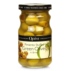 Opies Pimento Stuffed Cocktail Olives 227g