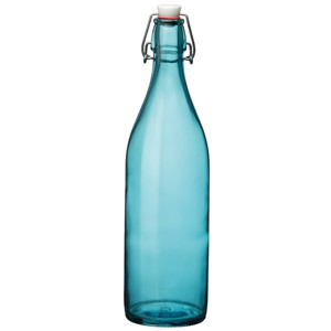 Giara Swing Top Bottle Blue 1ltr