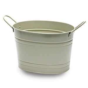 Oval Steel Party Tub Grey 37.5cm