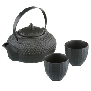 Oriental Hobnail Teapot & Serving Cups