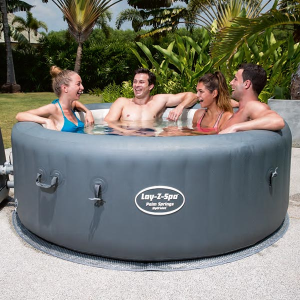 lay z spa palm springs hydrojet inflatable hot tub at. Black Bedroom Furniture Sets. Home Design Ideas