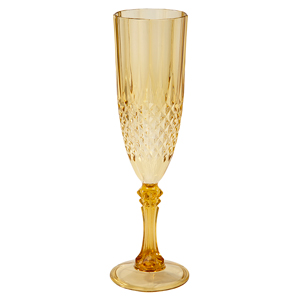 Gold Acrylic Champagne Flute 6oz / 180ml