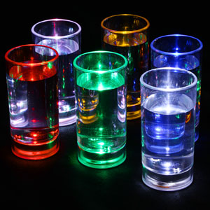Liquid Activated Flashing Shot Glasses 2.1oz / 60ml
