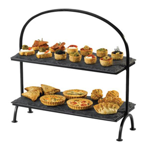 Rectangular Slate Tray 2-Tier Cake Stand