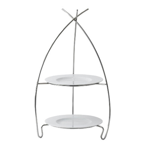 Dubai 2 Tier Cake Stand with Plates
