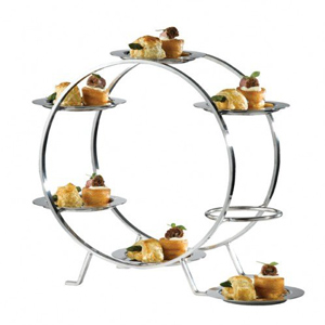 Image of Ferris Wheel Food Stand with 6 Stainless Steel Plates