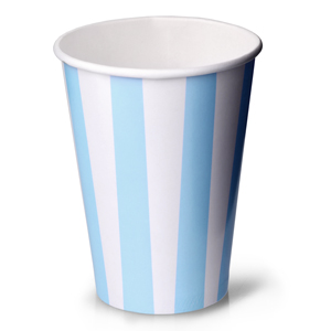 Blue Striped Milkshake Paper Cups 12oz / 340ml