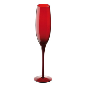Midnight Champagne Flutes Red 7oz  200ml (Pack of 2)