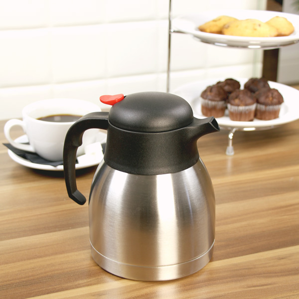 Vacuum Coffee Maker Metal : Stainless Steel Vacuum Coffee Pot 32oz / 1ltr Drinkstuff