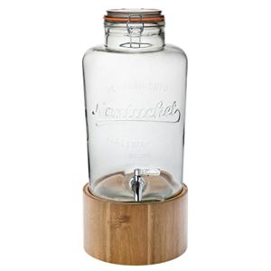 Nantucket Drinks Dispenser with Wooden Stand 300oz / 8.5ltr