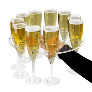 Champagne Flute Serving Tray