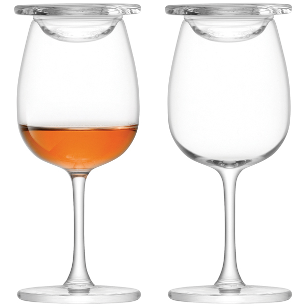 lsa whisky islay nosing glasses with glass covers 110ml. Black Bedroom Furniture Sets. Home Design Ideas