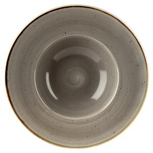 Churchill Stonecast Peppercorn Grey Wide Rim Bowl 24cm (Case of 12)