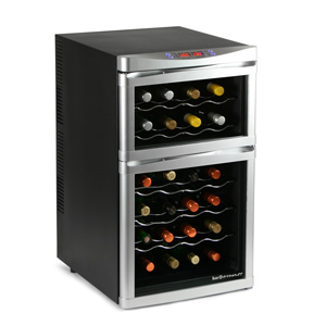 Sommelier 24 Bottle Dual Zone Wine Cellar Black
