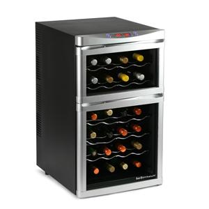 Sommelier 24 Bottle Dual Zone Wine Cellar Black