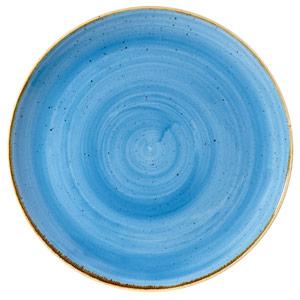 "Churchill Stonecast Cornflower Blue Coupe Plate 10"" / 26cm"