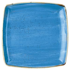 "Churchill Stonecast Cornflower Blue Deep Square Plate 10.25"" / 26.8cm"