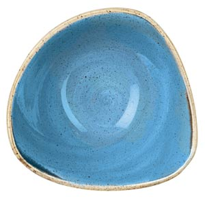 "Churchill Stonecast Cornflower Blue Triangular Bowl 6"" / 15.3cm"