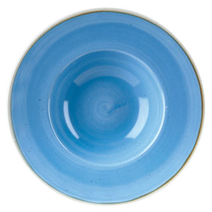 "Churchill Stonecast Cornflower Blue Wide Rim Bowl 9.5"" / 24cm"