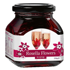 Rosella Wild Hibiscus 11 Flowers in Syrup 250g