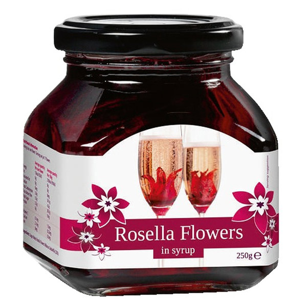 Rosella Wild Hibiscus 11 Flowers In Syrup 250g At Drinkstuff