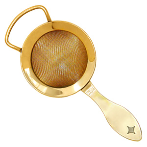 Bonzer Heritage Gold Plated Fine Cocktail Strainer