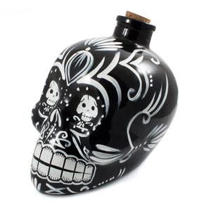 Day of the Dead Skull Decanter Black
