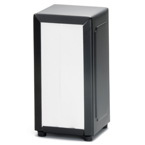 Black Stainless Steel Napkin Dispenser with 250 Napkins