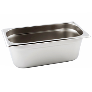 Gastronorm Pan 1/3 One Third Size 100mm Deep