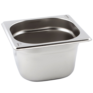 Gastronorm Pan 1/6 One Sixth Size 100mm Deep