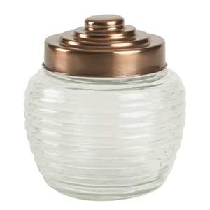 Beehive Glass Jar with Copper Finish Lid 2ltr
