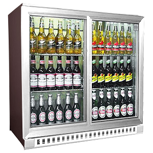 Osborne eCold 250ES Sliding Door Bottle Cooler Stainless Steel Doors & Kickplate