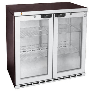 Osborne eCold 250EW Hinged Door Wine Bottle Cooler Stainless Steel Doors & Kickplate